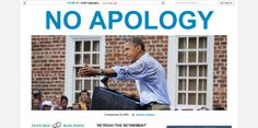 No apologies, not even retroactively.