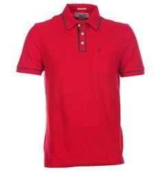 Penguin Cherry Red & Grey Rogue Skinny Fit Pique Polo Shirt Red Polo Shirt, Pique Polo Shirt, Cherry Red, Red And Grey, Skinny Fit, Penguins, Polo Ralph Lauren, Mens Tops, Shirts
