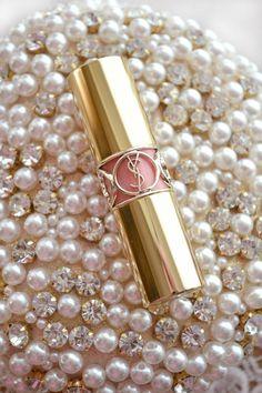 Pearls, Rhinestones & Pretty Lippie~❥