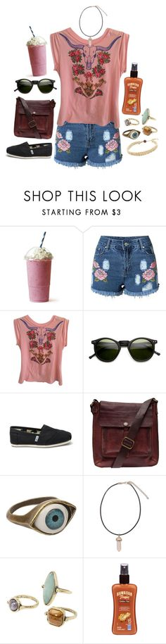 """Untitled #700"" by ryleerose1998 ❤ liked on Polyvore featuring Free People, INDIE HAIR, TOMS, Campomaggi, Retrò, MANGO and Hawaiian Tropic"