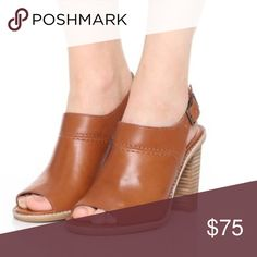 """Madewell Marie Sandal in Cognac Walking the line between boot and sandal, these brilliant leather slingbacks are ideal for those in-between weather days (and the perfect counterpart to flares, amongst other things).   Leather upper and lining. 3 9/16"""" heel. Man-made sole. New never worn Madewell Shoes"""