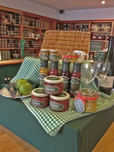 Summer has come to our Tracklements shop! We are dreaming of picnics and al fresco dining. Piccalilli, Wine Food, Al Fresco Dining, Picnics, Chutney, Cooking, Shop, Table, Summer