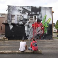 Case realistic street art portrait of Martin Luther King in Rochester, USA