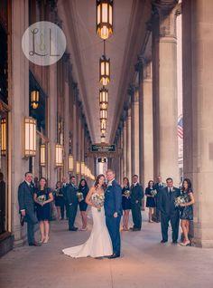Matt & Megan, photo by: Lavender & Lime Studio. Wedding branding & design by Echo Artistry. Chicago, Illinois. Chicago Opera House.