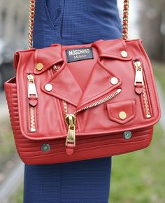 Moschino bag seen at MFW