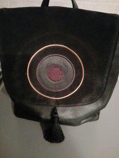 Δερματινη back bag Christina Malle η αγαπημένη μου!♥