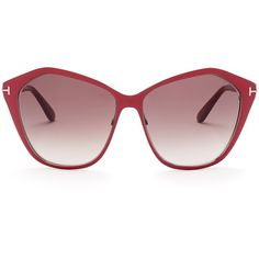 66737cd7720 Tom Ford Women s Lena Angled Cat Eye Sunglasses ( 149) ❤ liked on Polyvore  featuring accessories