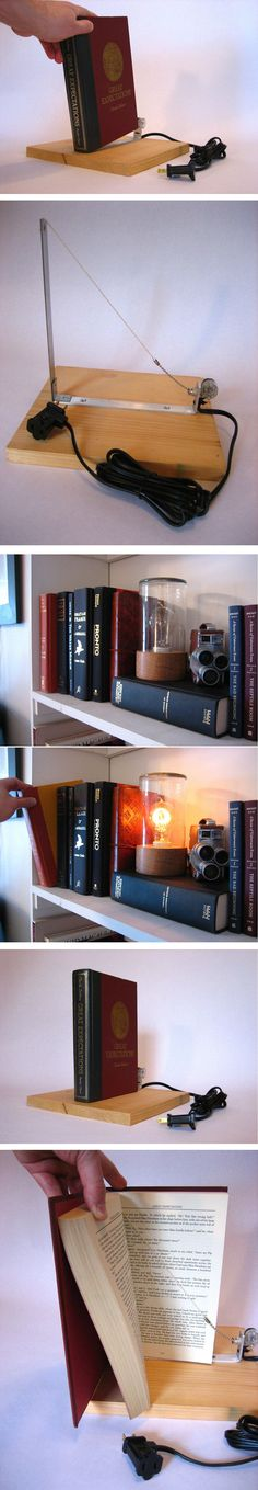 Secret Bookshelf Light Switch, I linked the Instructables web site with the step by step. I NEED this!