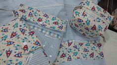 Kit maternidade 5 PCs  - saco roupa limpa GG  - saco roupa suja GG  - porta fralda  - porta remédio  -porta carteira vacina