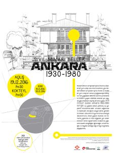 "Kütüphanede ""Sivil Mimari Bellek Ankara 1930-1980"" Sergisi"