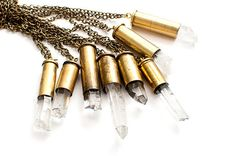 Crystal Bullet Pendants