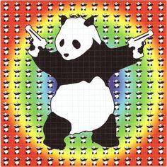 Banksy Panda LSD Blotter Art