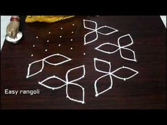beautiful kolam designs with 9dots * easy chukkala muggulu * simple rangolidesigns - YouTube