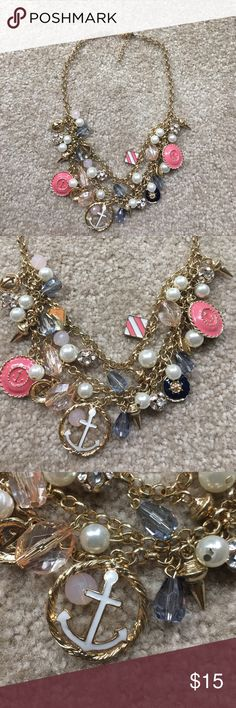 Charming Charlie Nautical Statement Necklace If you want to be ready for the spring and summer, this nautical statement necklace is a perfect addition. It goes with navy and white stripes, a peach top, actually it  goes with anything for the warmer weather!! Charming Charlie Jewelry Necklaces