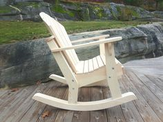Rocking Chair Plans, Wooden Rocking Chairs, Outdoor Projects, Wood Projects, Adirondack Chair Plans, Woodworking Furniture Plans, Deck Furniture, Outdoor Chairs, Outdoor Decor