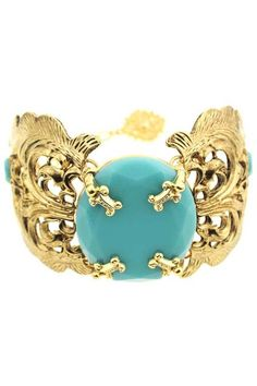 Shop Large Stone Hollow-out Bracelet at ROMWE, discover more fashion styles online. Jewelry Box, Jewelry Accessories, Fashion Accessories, Jewelry Necklaces, Emerald Bracelet, Turquoise Bracelet, Turquoise Fashion, Best Diamond, Emerald Diamond