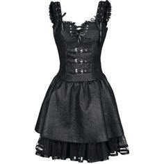 Original Poizen Industries - Dark Romance Dress with metal clasps, rivets, lacing and fancy back part. The lace is made of polyester. Gothic Outfits, Gothic Dress, Gothic Lolita, Gothic Girls, Dark Fashion, Gothic Fashion, Latex Fashion, Steampunk Fashion, Emo Fashion