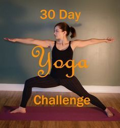Practicing Yoga at Home | A 30 Day Yoga Challenge . Simple way to slowly add yoga to your daily routines . Designed for use at home. Just you and a yoga mat and 7 minutes daily.