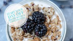 Overnight oats with dates and berries Overnight Oats, Coconut Flakes, Dates, Blueberry, Raspberry, Oatmeal, Berries, Breakfast, Sweet