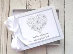 classic frame personalised wedding guest book diamante heart