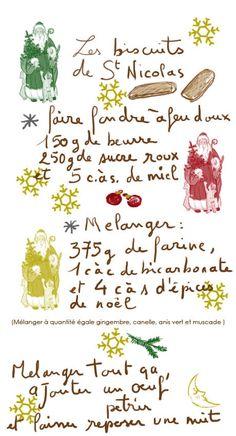 Biscuits de St-Nicolas - Tambouille.fr Le lendemain étaler la pâte, découper des rectangles et cuire 12 min à 200° C