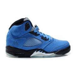 Air Jordan 5(V) Fluff Blue Black White $84.00 http://www.centrafilmes.com/