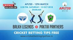 Today Cricket Baazigar Provide Match Prediction and Balkh Legends vs Paktia Panthers Match Betting Advice. All fans of cricket can also get free updates on the page www. Cricket Tips, Cricket Match, Fans, Advice, Panthers, Legends, Money, Silver, Panther
