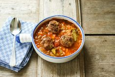 Meatball and cabbage soup