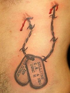 Military Dog Tags Tattoo Picture: Real Photo, Pictures, Images and ...