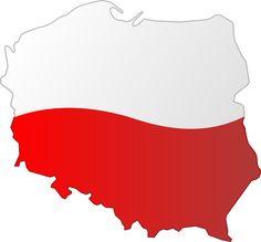 Flag map of Poland Polish Language, Polish Folk Art, Patriots, Cheer Skirts, Flag, Quilling, Charts, Maps, Tattoo Ideas