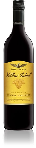 Wolf Blass - Yellow Label Cabernet Sauvignon... aahh the famous Yellow Label and a grand drop at that...!!!  Always look for the eagle for the best schlook ever!!  Another famous Barossian Icon..Wolf Blass..cheers!