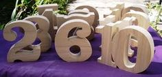 Cool idea for table numbers - perhaps decorate the letters in some way?