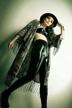 Portia Viktoria Volkova Kimono Top, Victoria, Latex, Black, Tops, Women, Style, Fashion, Swag
