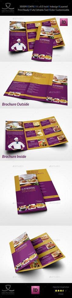 Image Result For Trifold Brochure Catering Trifold Brochure - Catering brochure templates