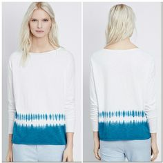 """Vince Slub Cotton Tie Dye White Blue Sweater New with tags. perfect condition. No trades.  Approximate measurements  Chest flat across 23"""" Length 23.5"""" Sleeve from shoulder 20.25"""" Vince Sweaters Crew & Scoop Necks"""