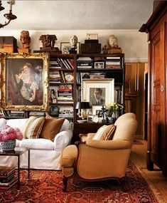 This Ivy House: Archive Home Library Rooms, Home Libraries, Home Living Room, Living Room Decor, Living Spaces, Ivy House, Interior Decorating, Interior Design, My New Room