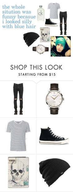 """""""i looked silly"""" by fayfay-20 ❤ liked on Polyvore featuring RtA, Montblanc, Witchery, Converse, Alexander McQueen, Burton, Calvin Klein, men's fashion, menswear and cute"""