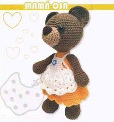 Ricitos de Oro: mamá Osa Crochet Shawl, Crochet Doilies, Crochet Flowers, Mandala, Lana, Crafts For Kids, Teddy Bear, Blanket, Toys