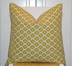 Schumacher  Ziggurat in Chartreuse  by TurquoiseTumbleweed on Etsy