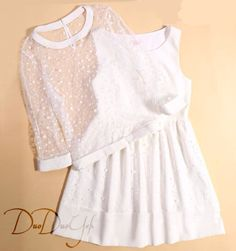 lace with dress Girly Outfits, Cute Outfits, Cute Dresses, Beautiful Dresses, Teen Fashion, Fashion Outfits, Diy Clothes, Dress To Impress, Personal Style