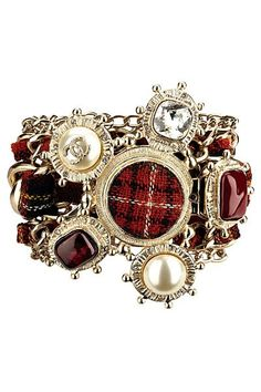 I'd have a wardrobe full of tartan things -Chanel tartan bracelet Coco Chanel, Chanel Paris, Chanel Men, Chanel Couture, Jewelry Accessories, Fashion Accessories, Fashion Jewelry, Fall Accessories, Fall Jewelry