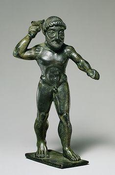Statuette of Herakles [Greek] (28.77) | Heilbrunn Timeline of Art History | The Metropolitan Museum of Art 6th cent BC