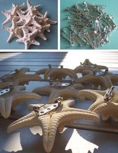 DIY Starfish boutonnieres