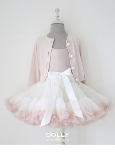 DOLLY by Le Petit Tom ® SWEET QUEEN pettiskirt off-white ballet pink