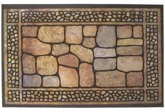 """Multy Home Lp 22X36 Cobbleston Dr Mat 5000263 Mat Rubber by Multy. $17.58. Size: 22"""" x 36"""". Flocked Rubber Door Mat. Heavy Duty Flocked Surface In Fashionable Colors.. Durable Outdoor Entrance Mat Made From 100% Recycled Rubber Tires. Framed Cobblestone. Fashionable design fits with most decors, stays in place, is easy to clean and weather resistant."""