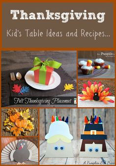 Thanksgiving Kids Table Ideas & Recipes