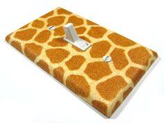 Jungle Babies Giraffe Print Nursery Decor Light by ModernSwitch, $8.00
