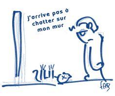 On ne chat pas sur un mur monsieur ^^ #Facebook #reseauxsociaux