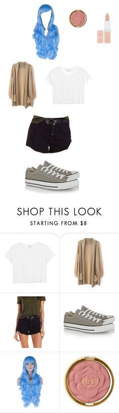 """Katelyn from MCD"" by pugsrock on Polyvore featuring Monki, Refuge, Converse, Milani, Rimmel, women's clothing, women's fashion, women, female and woman"