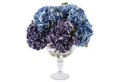 I pinned this Faux Hydrangea Arrangement III in Purple from the Winward event at Joss and Main! Flower Centerpieces, Flower Vases, Centrepieces, Hortensien Arrangements, Home Interior Accessories, Blue Hydrangea, Purple Flowers, Cute Wedding Ideas, Vases Decor